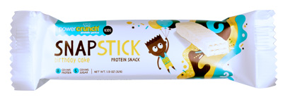 Power Crunch Snap Stick Birthday Cake