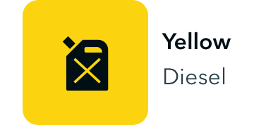 Yellow container for diesel.