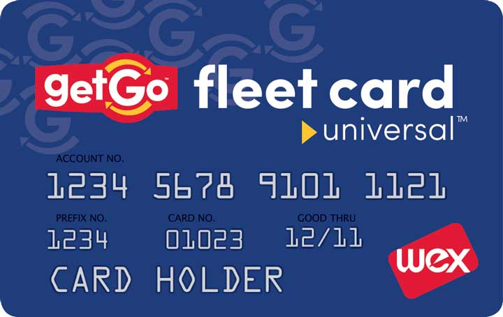 Universal Get Fleet card showing Wex logo