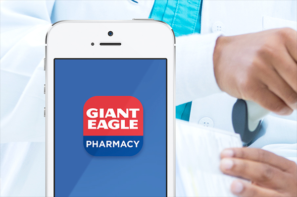 Giant Eagle pharmacy app on an iPhone