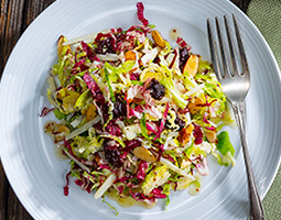 Brussels Sprouts and Radicchio Slaw