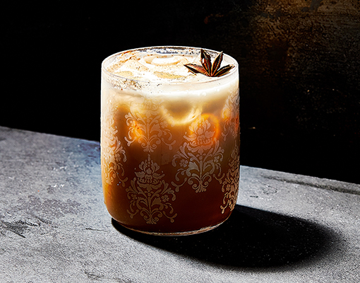 Pumpkin Pie Spice Chai Cocktail