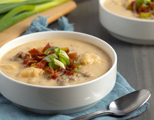 Keto Friendly Bacon Cheeseburger Soup