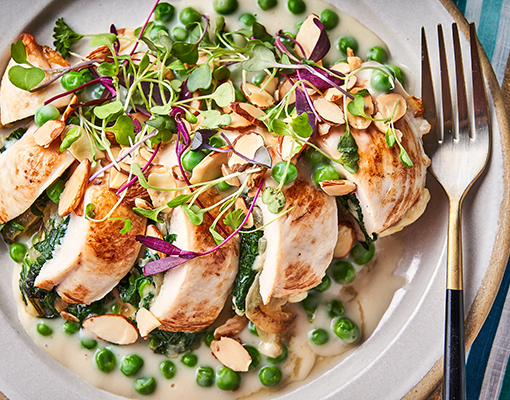 Spring Chicken with Sweet Pea Sauce