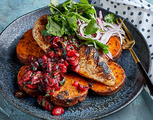 Chicken with Cranberry Salsa