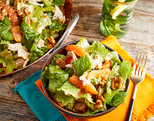 Moroccan-style Chicken Salad with Oranges and Walnuts